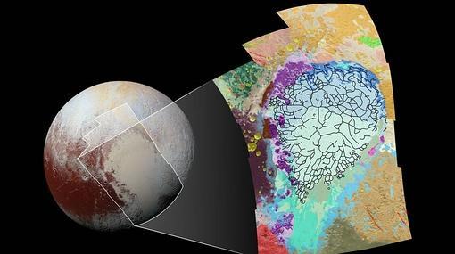 La NASA traza el primer «mapa de carreteras» de Plutón