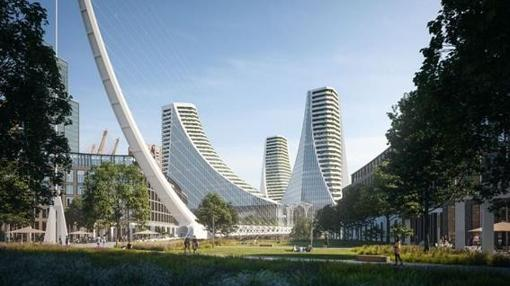 Calatrava presenta su primer proyecto en Londres, tres torres en Greenwich
