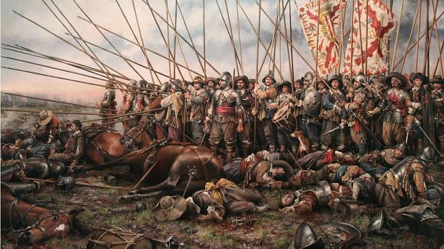 «Rocroi, el último Tercio», cuadro del pintor Augusto Ferrer-Dalmau