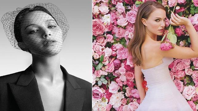 En blanco y negro, Jennifer Lawrence, rodeada de flores, Natalie Portman