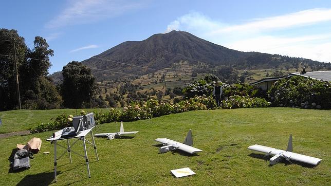 Drones para espiar volcanes