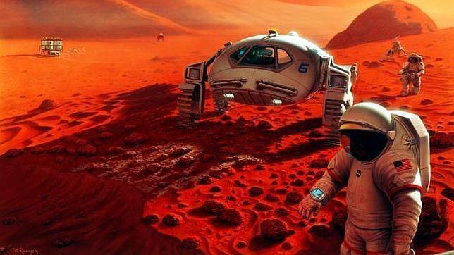 Impresión artística del Planeta rojo