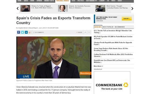 Bloomberg:«La crisis española se desvanece»