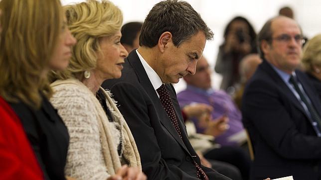 Carme Chacón, María Teresa Fernández de la Vega, José Luis Rodríguez Zapatero y Ángel Gabilondo