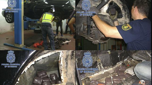 Detienen a una pareja con 60 kilos de hachís ocultos en un coche en Almería