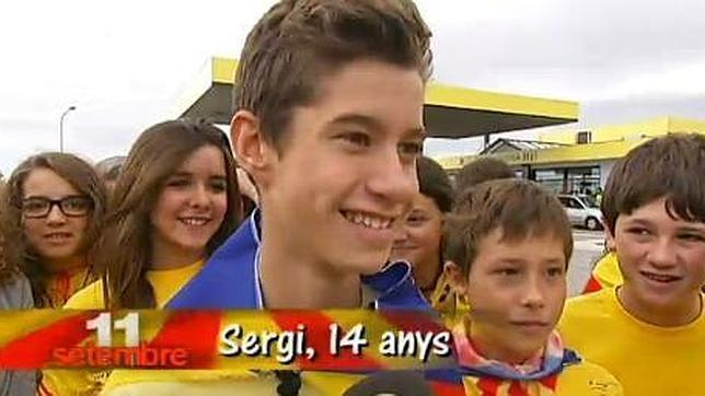 La televisión catalana dedica un programa a los niños independentistas