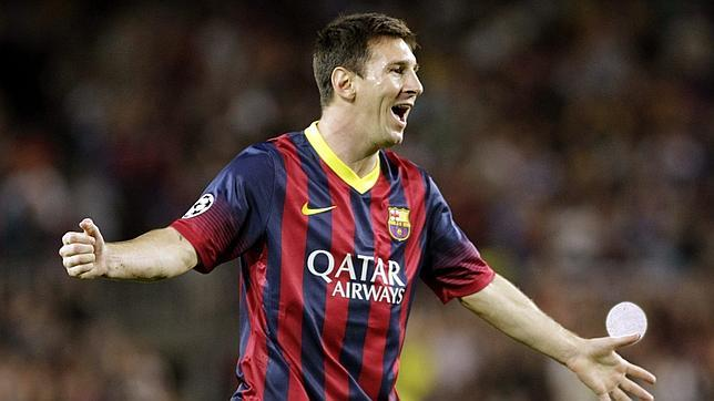 Al Barça le basta con la zurda de Messi