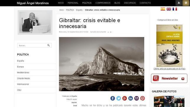 Moratinos, al Gobierno: «La crisis por Gibraltar era evitable e innecesaria»