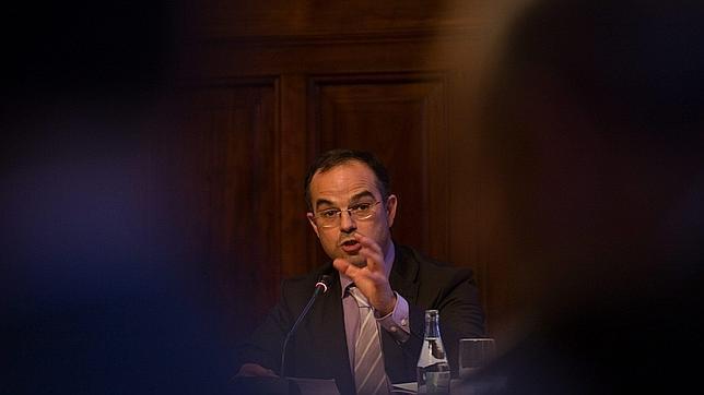 El presidente de CiU en el Parlament, Jordi Turull