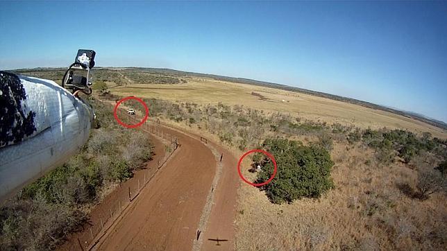 Aviones no tripulados contra la caza furtiva de rinocerontes en Sudáfrica