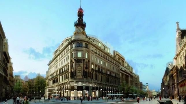 Simulación del futuro complejo de Canalejas que albergará un hotel Four Seasons