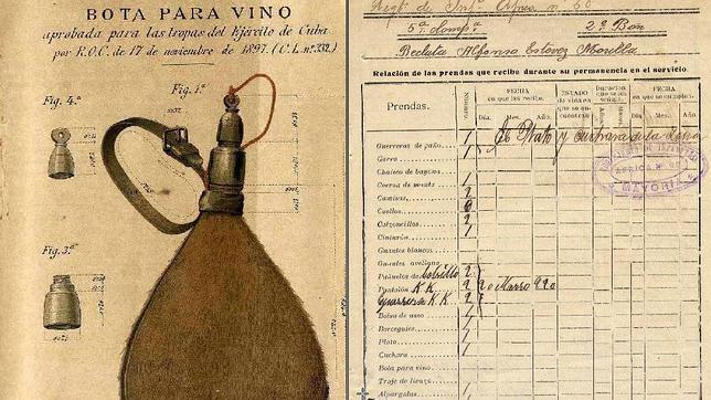 Cuando un catalán diseñó la bota de vino reglamentaria del Ejército español