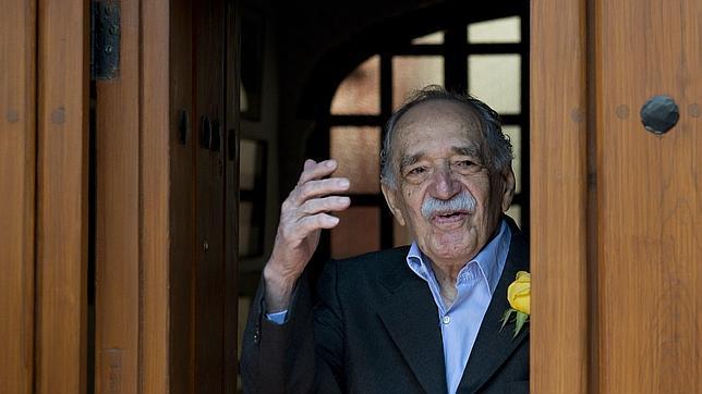 El escritor colombiano Gabriel García Márquez, en su última aprición pública con motivo de su 87 cumpleaños