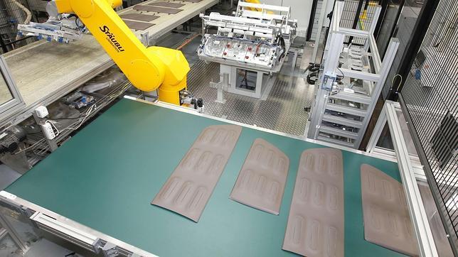 Imagen del proceso de fabricación de los Airbump de Citroën.
