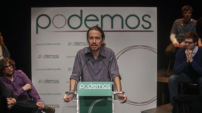 Pablo Iglesias, durante un discurso de Podemos