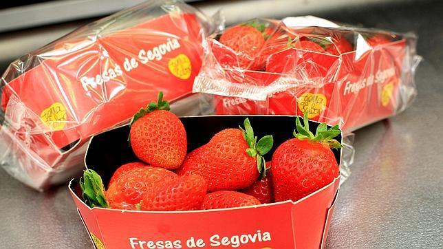 Imagen de las fresas de Segovia en el lineal de Mercadona