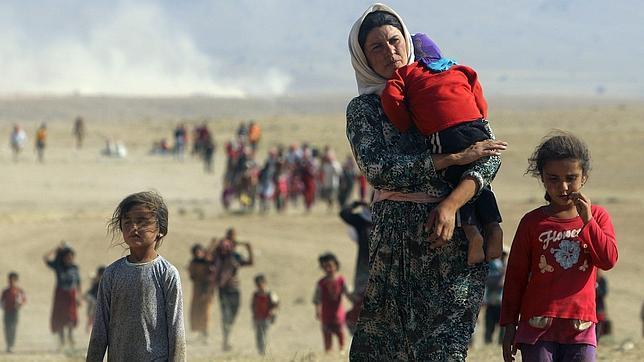 Refugiados yasidíes huyen de los yihadistas del Estado Islámico