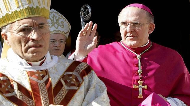 A la izquierda, Rouco Varela el día en que Osoro tomó posesión como arzobispo de Valencia