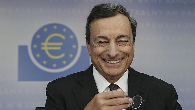 El presidente del BCE, Mario Draghi, durante la rueda de prensa posterior a la reunión de septiembre