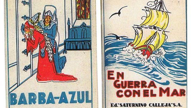 Dos portadas de cuentos de Calleja