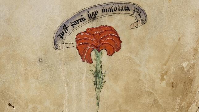 Página del antifonario para el oficio divino de maitines y laudes
