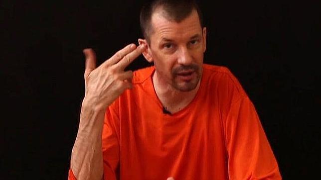 Captura del vídeo del rehén John Cantlie