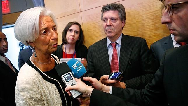 La directora gerente del FMI, Christine Lagarde, dice que un «riesgo grave» de otra recesión acecha Eurozona