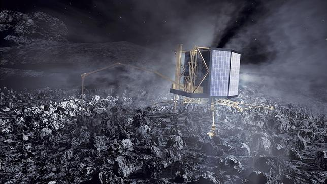 Philae se «agarrará» a la superficie del cometa con sus arpones