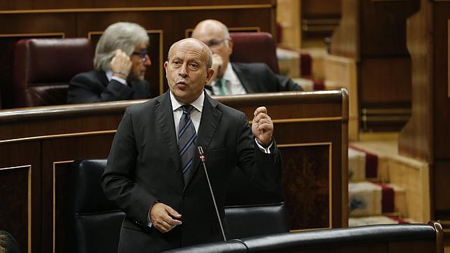 José Ignacio Wert, durante una comparecencia en el Congreso