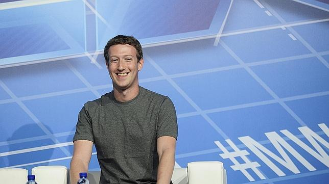Zuckerberg durante el Mobile World Congress de Barcelona en febrero de 2014