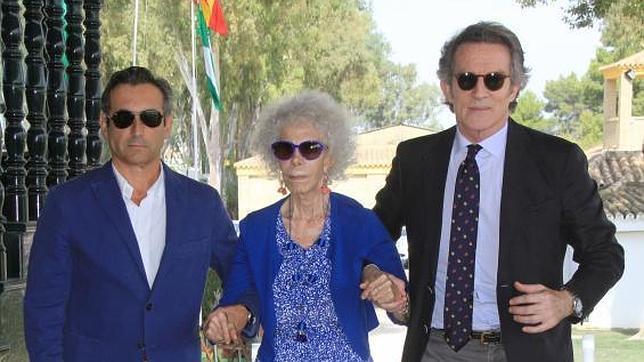 La Duquesa de Alba y Alfonso Diez, en una imagen el pasado mes de octubre