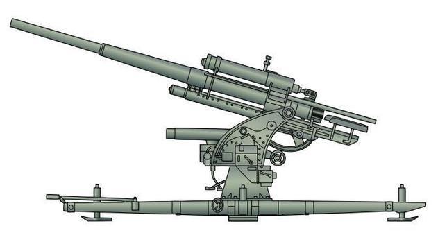 En la guerra de España, la Legión Cóndor probaría tres de los cuatro modelos de este formidable cañón