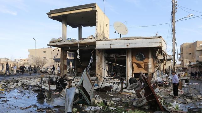 Una casa destrozada en Raqqa