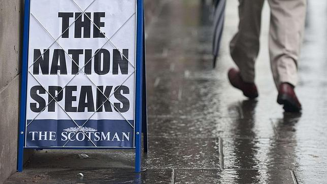 Una de las portadas escocesas el día después del referéndum