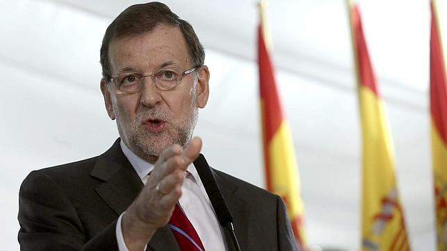 El presidente del Gobierno, Mariano Rajoy, en la fiesta de la Constitución del Congreso de los Diputados