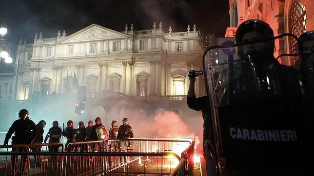 Disturbios en la inauguración de la temporada de la Scala de Milán