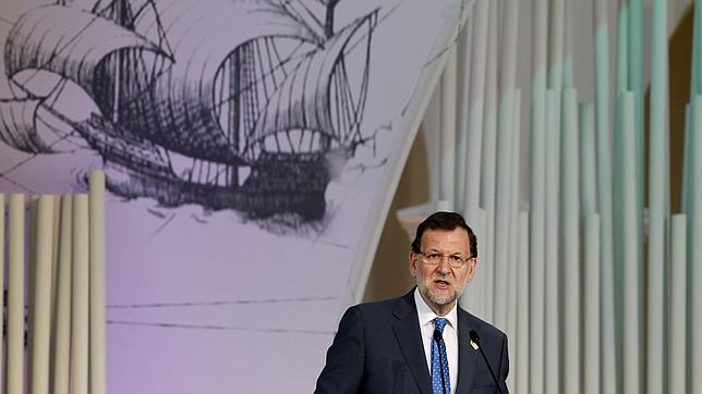 El presidente del Gobierno durante su intervención en el III Foro de la Comunicación