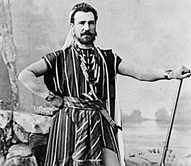El tenor, en «Los pescadores de perlas», de Bizet, en el Teatro Real en 1889