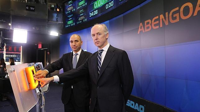 Fotografía cedida en donde aparece el presidente de la compañía española Abengoa