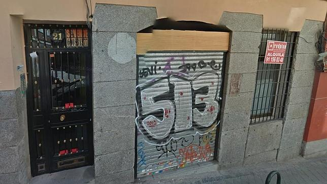 Local donde se ubica la sede de Podemos, en la calle Zurita, en una imagen de 2014