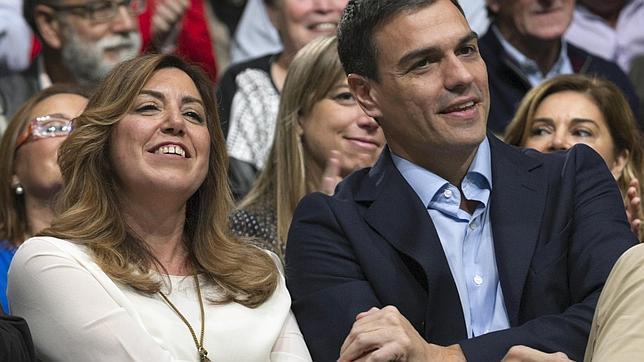 Susana Díaz y Pedro Sánchez, el pasado noviembre en Sevilla
