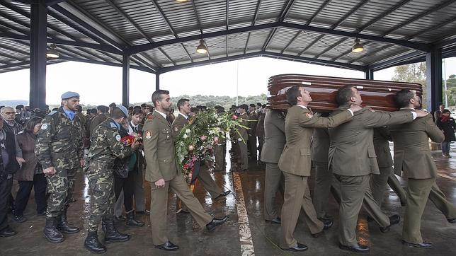 Funeral por el cabo fallecido en Líbano