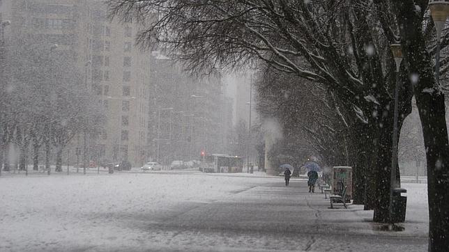 Las nevadas en Pamplona