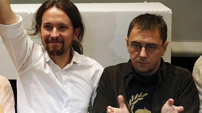 Pablo Iglesias y Juan Carlos Monedero