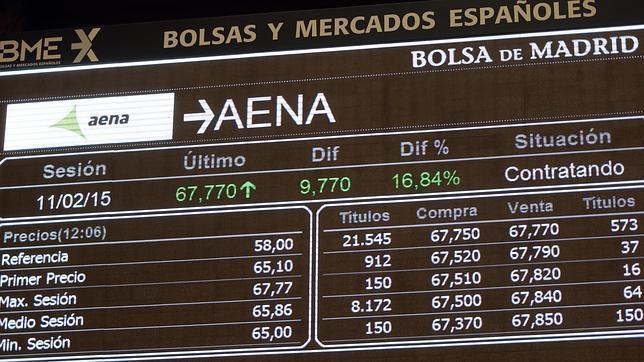 El estreno de AENA en el selectivo madrileño aumentó su valor un 20,7%
