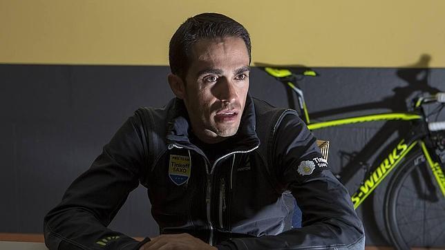 Contador, durante la entrevista con ABC