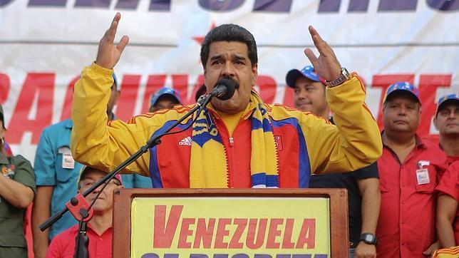 Nicolás Maduro en una reciente intervención denunciando un presunto eje Madrid-Bogotá-Washington