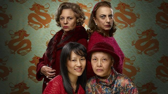 Gloria Muñoz, Lola Casamayor, Huichi Chiu y Chen Lu, las actrices de la obra