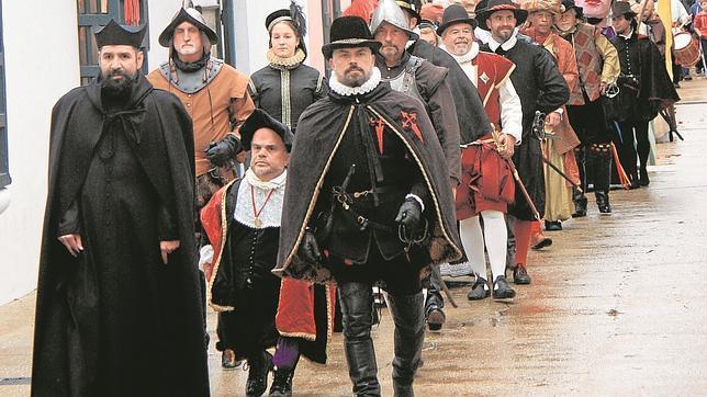 Comitiva festiva en San Agustín (Florida) en la celebración dedicada a su fundador, Pedro Menéndez de Avilés