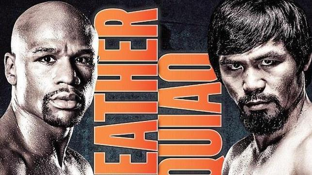 Cartel promocional del combate Mayweather-Pacquiao